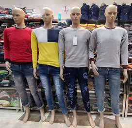 Fancy jeans and tshirt only at rs 500