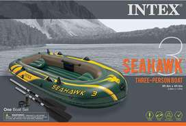 Intex Seahawk 3 Inflatable Boat Set Plus Oars Pump