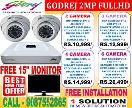 NEW YEAR CCTV 2MP GODREJ 1080P FULL HD