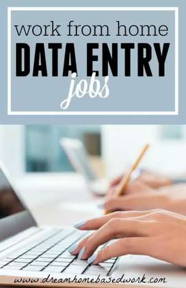 Urgent requirement in Data entry Home based nd back office