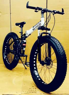 New fat tyre folding cycles with shimano 21 gears