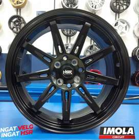 Velg mobil racing murah HSR wheel TIKALA R17 Black Gresik