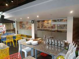 Running Cafe(Full Furnished) for rent at Calicut beach