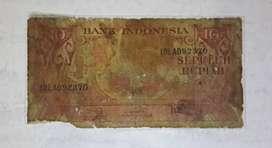 Uang Kertas Kuno Rp. 10,-