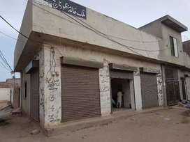 5 Marla House with 3 shops Corner Plot for sale
