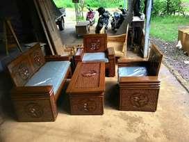 Kursi tamu tangan tumpuk, bahan jati