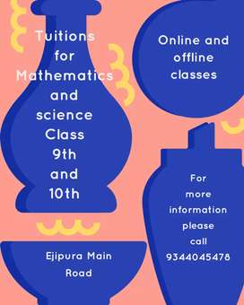 Tuitions for Mathematics and science for class 9th and 10th