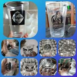 Sablon/printing GELAS thai tea (GELAS CUP PLASTIK PP) 22oz 10gram