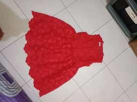 Dress import Anak ukuran 120/4-5tahun