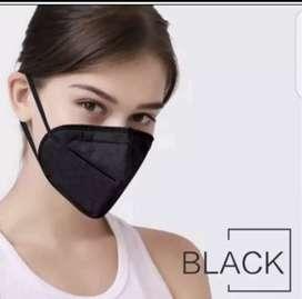 HITAM KN95 Kawat didalam ] Masker KN95 Kawat di Dalam warna hitam