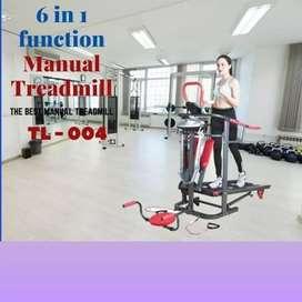 promo treadmill manual TL-004 F-682 electric alat fitnes