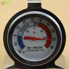 Temperature Refrigerator Freezer Dial Thermometer Stainless Steel ID3