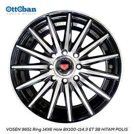 Velg Vosen R14x6 h4x114.3 ET 38 Untuk Mobil Calya, Ayla, Agya, Vicanto