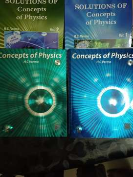Concept of physics brand new books by HC verma
