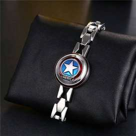 Gelang Captain America shield avengers ironman bracelet bangle ID3