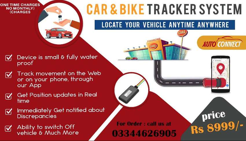 CAR BIKE Tracker PTA APPROVED LIVE Monitor 0