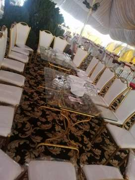 Golden Chairs and Golden Table is available for sale