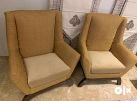 Pair of 2 seats of high back chairs