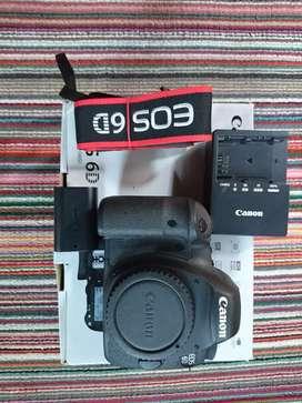 Body Canon 6d lengkap dan mulus