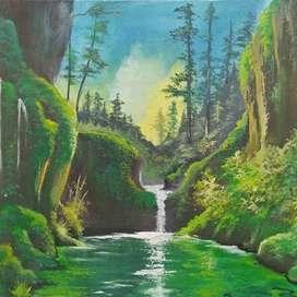Lukisan kanvas ditawar