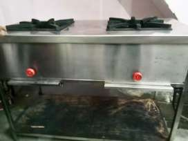 2 burner commercial gas stove , only 1 month use