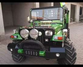 Modified natural green coloured willy jeep