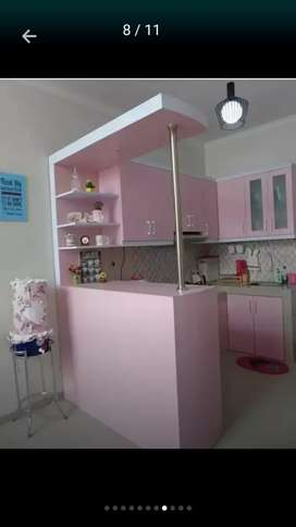 Minimalis Mini Bar 2 Sisi & Kitchen