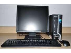 Lowest Acer dual core 2gb ram 250 gb hdd 17 inch led full set desktop