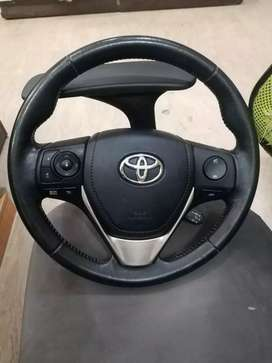 Toyota Grande Steering Wheel leather stitch