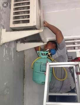 Melayani jasa isi freon & perbaikan AC, mesin cuci, kulkas, frezer