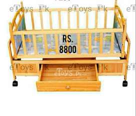 Wooden baby cot with swing Imported No.