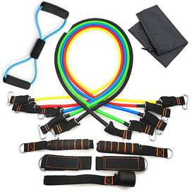 Resistance Bands Set - 5-Piece Exercise Bands - Portable Home Gym Acce