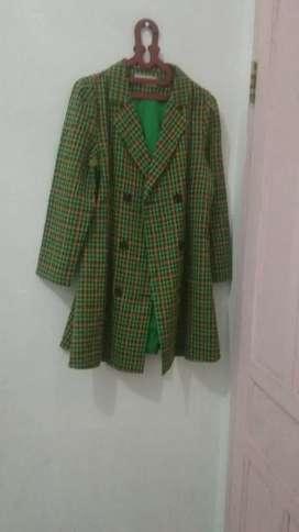 Dijual baju motif kotak hijau
