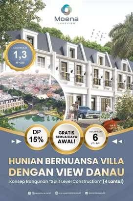 Hunian Exclusive dgn view Danau Taman Panjang di area Jakarta Selatan
