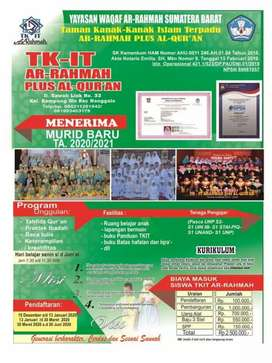 TKIT arrahmah Plus Al-Qur'an nomor NPSN : 69981057,