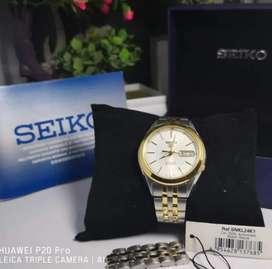 Di jual jam tangan Seiko ori dan asli lengkap otomatis dan batrai lkp