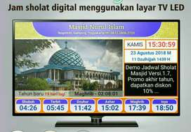 jam masjid sholat jasma jws tv led jasma sholat digital speaker