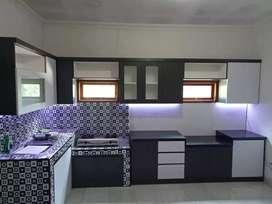 kitchenset partisi sekat ruangan interior kamar tidur