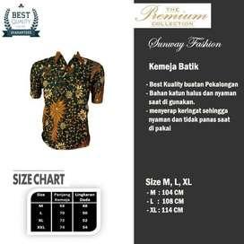 AM0046 Harga Promo COD Baju Kemeja Batik cowok Pria Kualitas terjamin