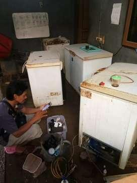 Service kulkas Frezer box mesin cuci show case