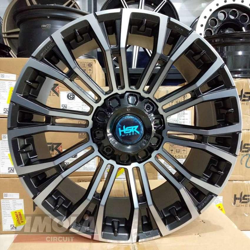 Velg mobil racing fortuner r20 HSR wheel MYTH02 lubang 6x139,7 BK/OIL