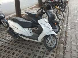 Well maintained white TVS wego in excellent condition