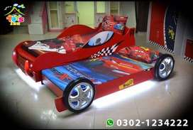 Red Double Car Bed