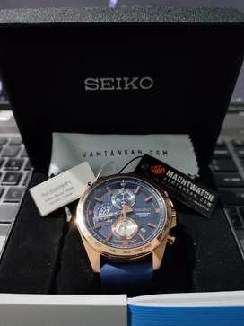 ORIGINAL Seiko Chronograph SSB290P1 Blue Rubber Strap