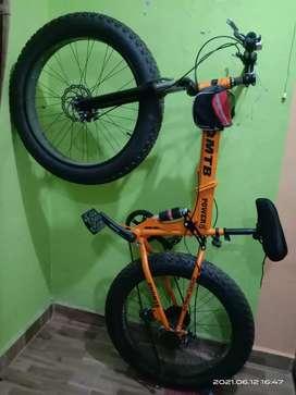 Sepeda lipat MTB Gunsrose Fun Bike 26x4.0