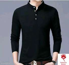 Mens stylish casual cotton solid t-shirt .free home delivery with COD