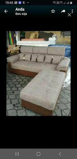 Sofa 3 dudukan + Puf  terpisah 100cm ,Mudah Diatur Di Ruangan