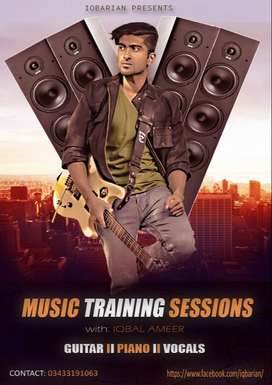 learn music instruments and singing with professional guidance