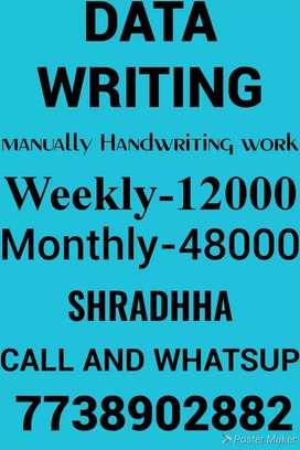 Manual hand written work