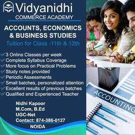 Online Accounts, Economics and Business Studies Classes for 11th , 12t